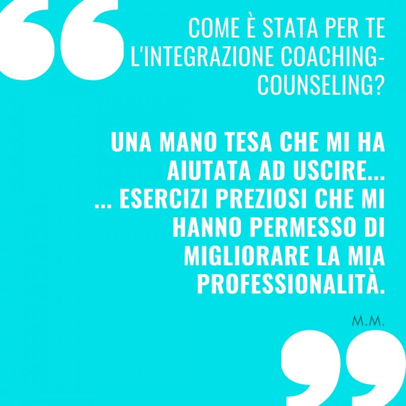 Come è stata per te l'integrazione coaching counseling